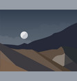 night landscape of mountains with moon vector image