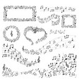 note frames and decor music art melody or song vector image
