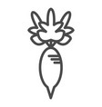 outline radish icon isolated black simple vector image vector image