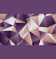 pastel two colors low poly banner design vector image vector image