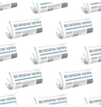 Pattern of folded Business News newspapers vector image vector image