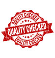 quality checked stamp sign seal vector image vector image
