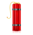 Red dynamite sticks vertical vector image vector image