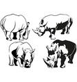 Rhinoceros Tattoo Drawings vector image
