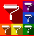 roller sign set of icons vector image vector image