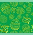 seamless colorful happy easter pattern vector image vector image