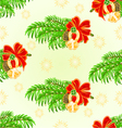 Seamless texture Merry Christmas lucky symbols vector image vector image