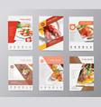 set annual report brochure flyer design vector image vector image