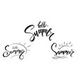 set design calligraphic text summer vector image