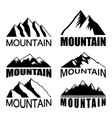 set mountains on white background vector image