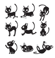 Set Of Cat Cartoon With Different Actions vector image vector image