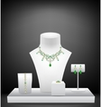 Set of jewelry on dummies vector image vector image