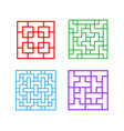 set of square chinese pattern window frame vector image vector image