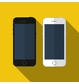 smartphone similar to iphone mockup vector image vector image