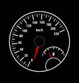 speedometer and fuel gauge vector image