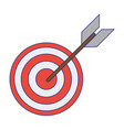 target dartboard symbol isolated blue lines vector image