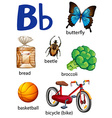 Things that start with the letter B vector image vector image