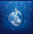 transparent christmas decoration with new year vector image vector image
