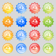 Upload icon sign Big set of 16 colorful modern vector image vector image