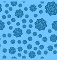winter blue background with snowflakes seamless vector image vector image