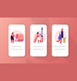 women in beautician parlor mobile app page onboard vector image