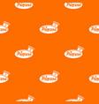 word princess crown pattern orange vector image vector image
