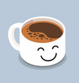 coffee cup with smiley face vector image