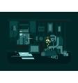 Burglar in the apartment vector image