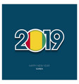 2019 guinea typography happy new year background vector image vector image