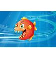 A red piranha under the sea vector image vector image