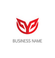 abstract future design logo vector image