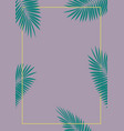 abstract palm leaf background vector image vector image