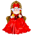 Angry Queen on throne vector image vector image