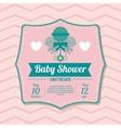 Baby Shower design maraca icon pink vector image vector image
