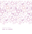 bagirls horizontal border seamless pattern vector image vector image
