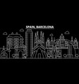 barcelona city silhouette skyline spain vector image