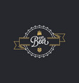 beer cap logo craft beer stamp on black vector image