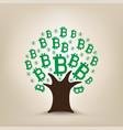 bitcoin grows on tree vector image vector image
