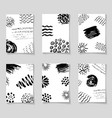 black ink brushes grunge patterns hand drawing vector image vector image