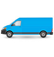 blue truck template cargo van eps 10 isolated on vector image vector image