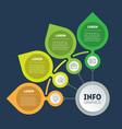 brochure design template business presentation vector image vector image