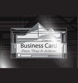 business card interior design and architecture vector image vector image