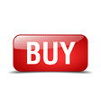 buy red square 3d realistic isolated web button vector image vector image