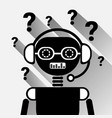 chatbot with question mark icon concept black chat vector image