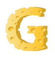 cheese letter G vector image vector image