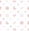 choose icons pattern seamless white background vector image vector image