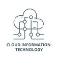 cloud information technology line icon vector image vector image