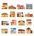 Cottage House Building Set vector image vector image