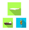 design of goods and cargo icon collection vector image vector image