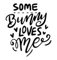 easter hand written phrase modern brush vector image